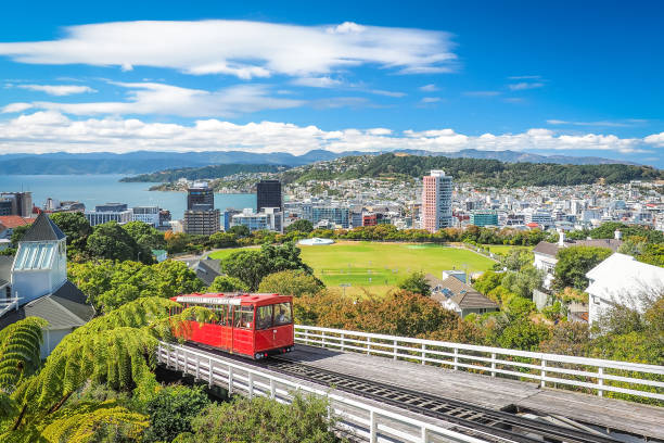 Wellington Cable Car, the landmark of New Zealand. New Zealand. wellington new zealand stock pictures, royalty-free photos & images