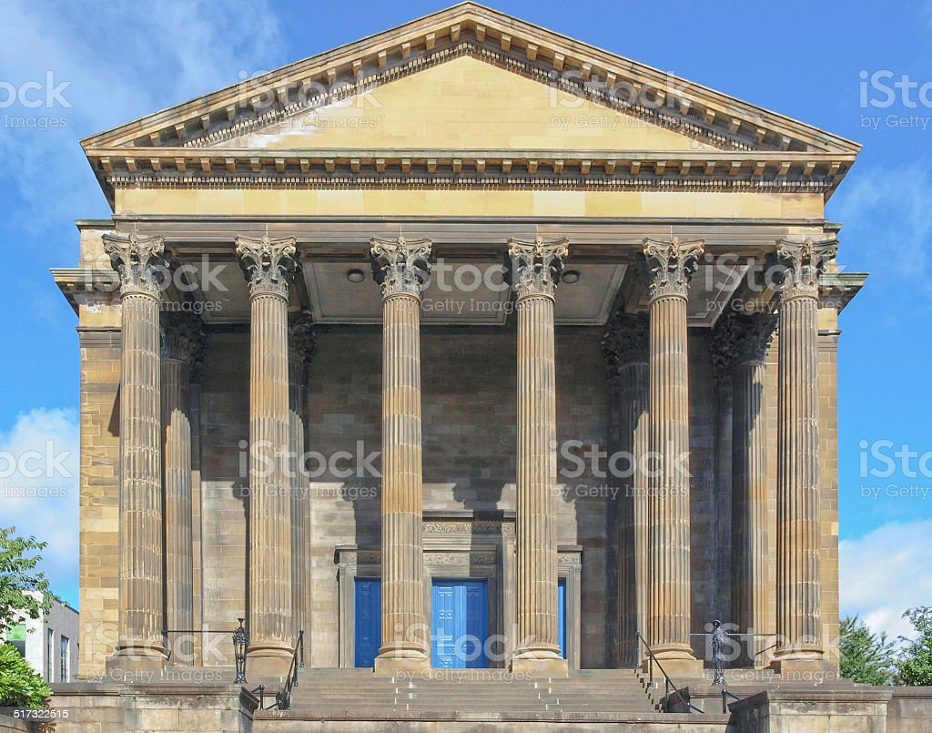 Wellington church, Glasgow stock photo