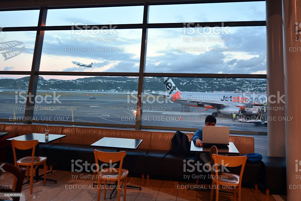 Wellington International Airport stock photo