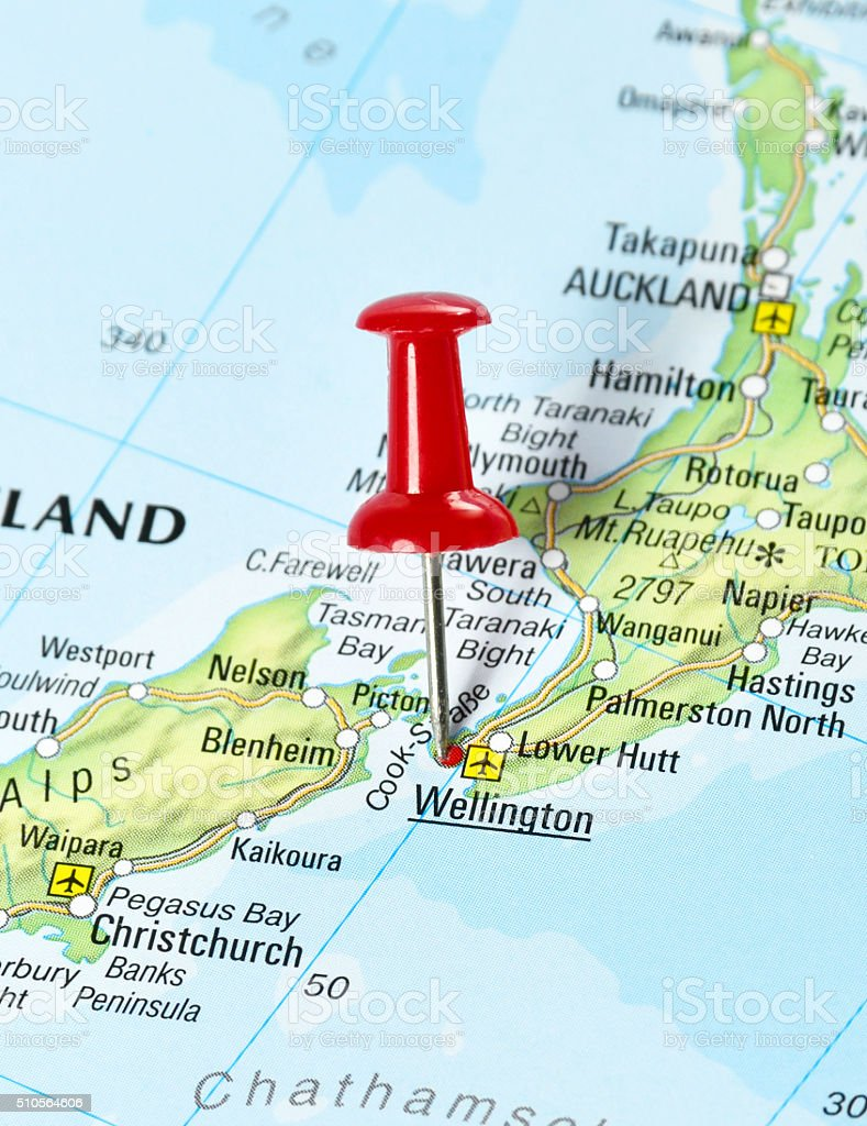 Map Wellington New Zealand.Wellington New Zealand Stock Photo Istock