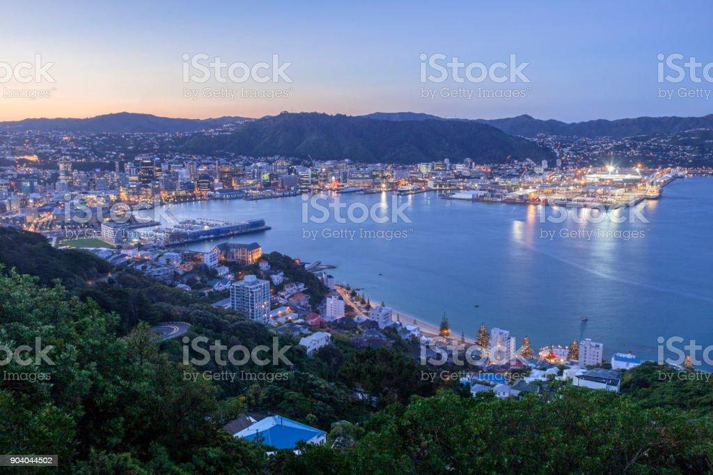 Wellington New Zealand stock photo