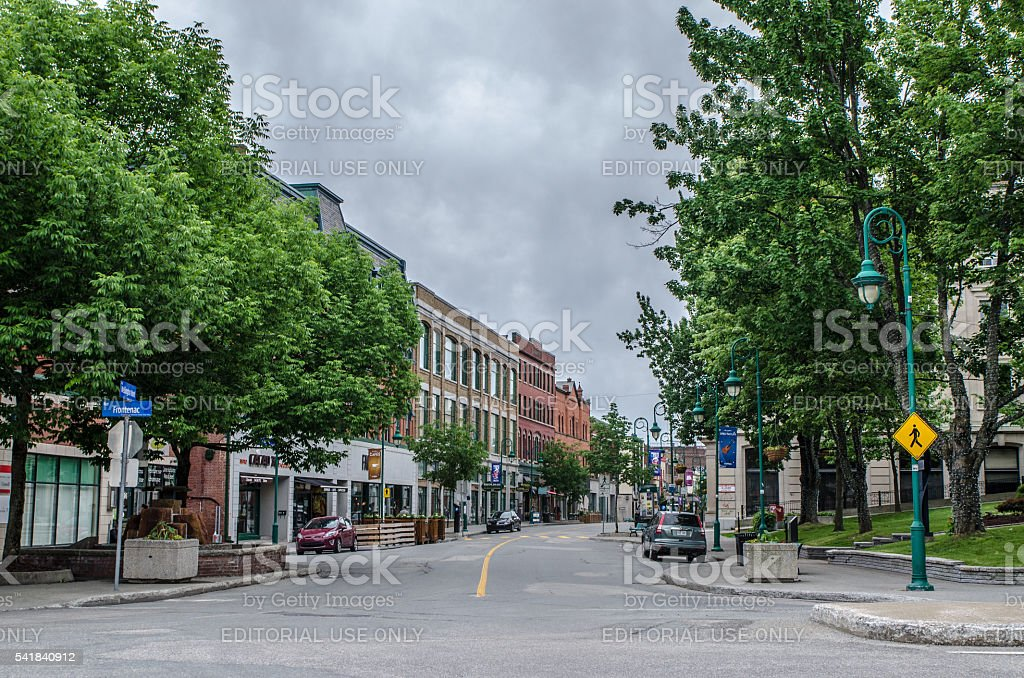 Wellington North street in Sherbrooke at corner of Frontenac stock photo