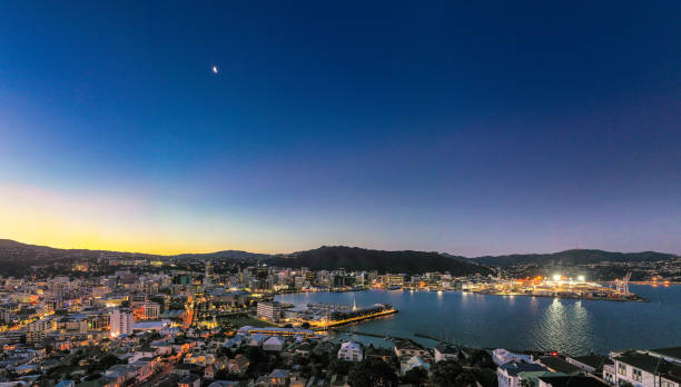 Wellington Panorama in der Dämmerung – Foto