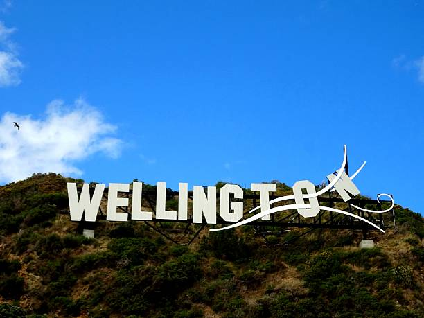 Wellington Wellington Sign in New Zealand. wellington new zealand stock pictures, royalty-free photos & images