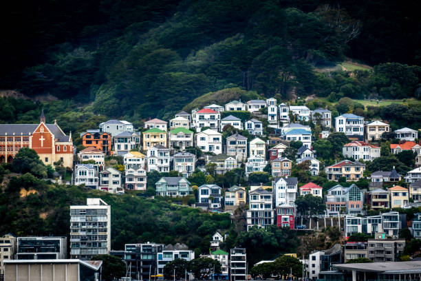 Wellington Colorful houses wellington new zealand stock pictures, royalty-free photos & images