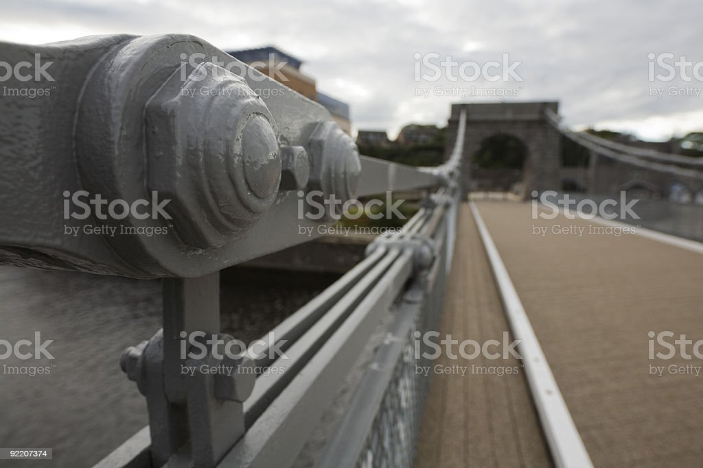 Wellington Suspension Bridge in Aberdeen, UK - elements royalty-free stock photo