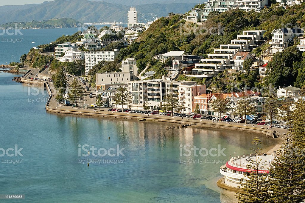 Wellington's Oriental Bay stock photo