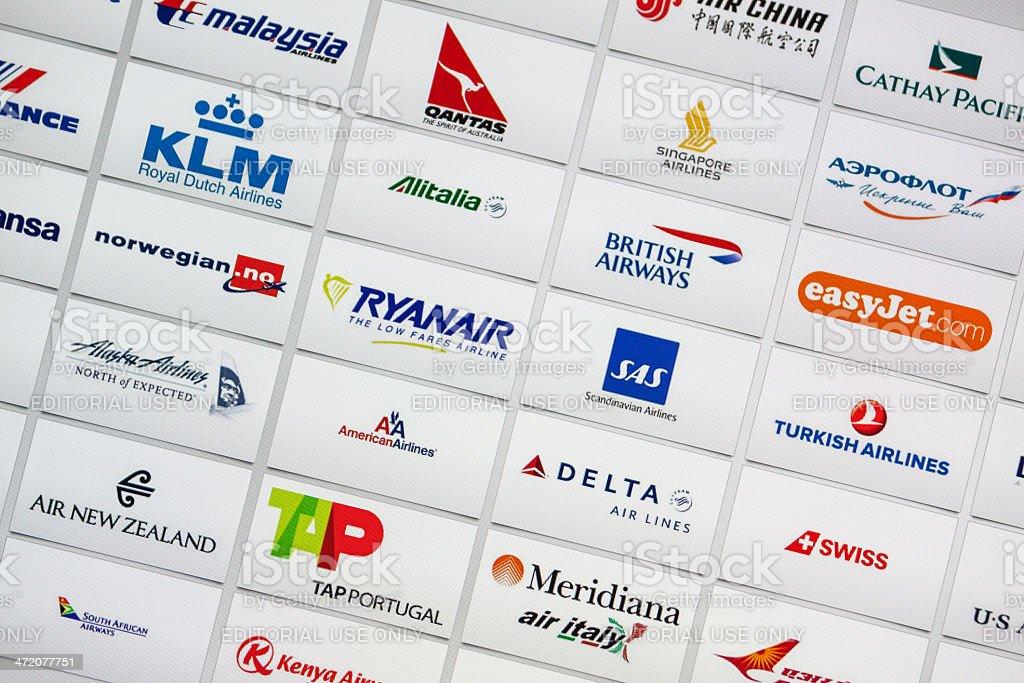 Compagnie aeree di fama del marchio aziendale Logotypes mix - foto stock