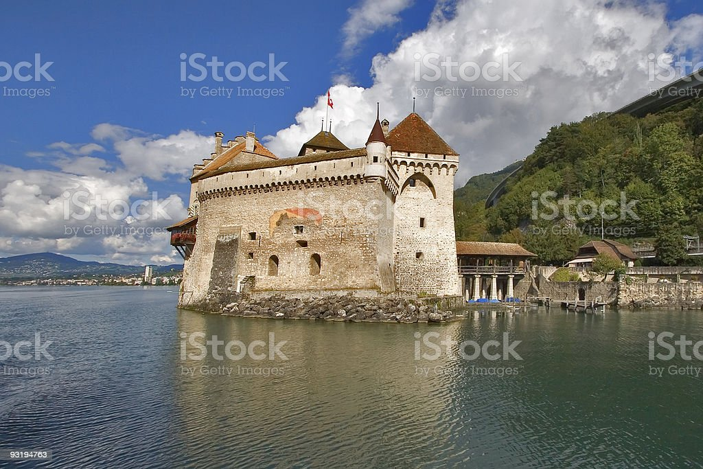 Well-known palace  ?hillon. royalty-free stock photo