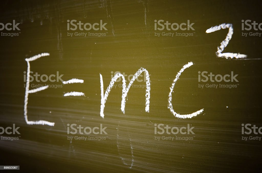 Well-known physical formula​​​ foto
