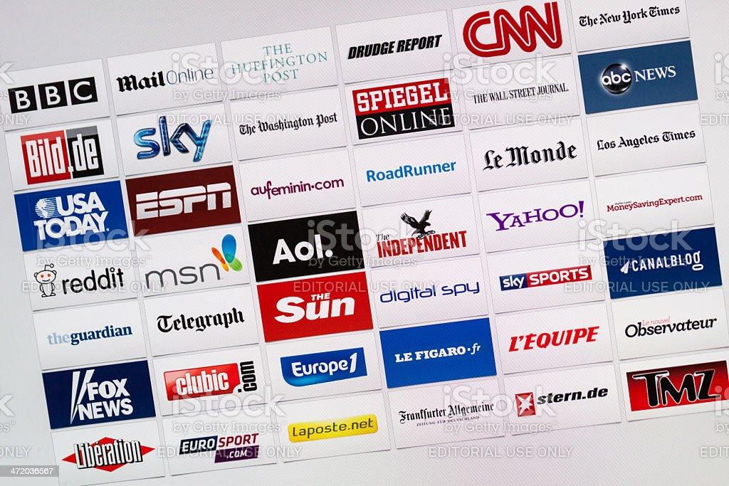 Well-Known World Internet Communication Brand Logotypes stock photo