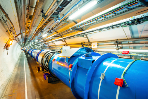 The Large Hadron Collider (LHC) is the world's largest and most powerful particle accelerator. Consists of a 27-kilometre ring of superconducting magnets with a number of accelerating structures to boost the energy of the particles along the way.