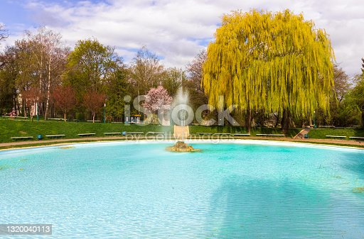istock A well-maintained city park in the city of Kamyanets-Podolskiy. 1320040113
