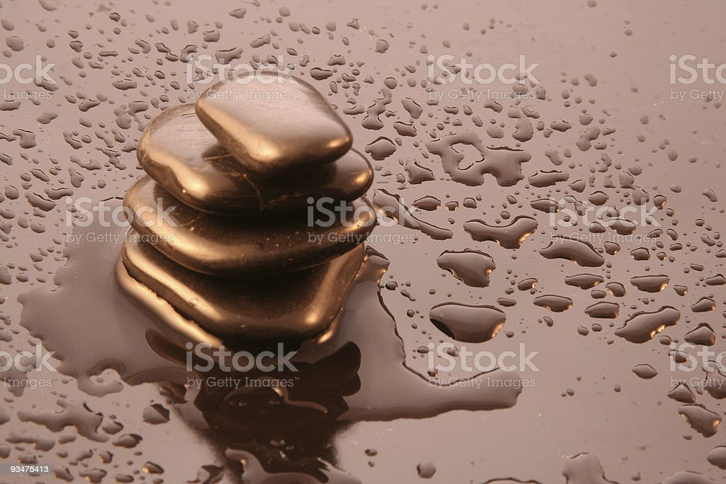 Wellness balance [gold] royalty-free stock photo