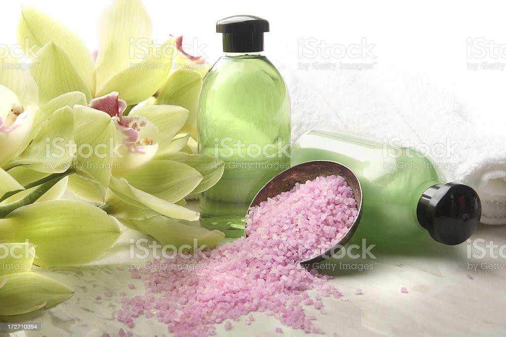 Wellness: Green Spa Theme royalty-free stock photo
