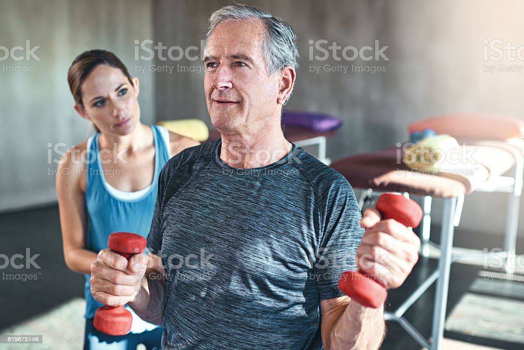 Wellness is ageless stock photo