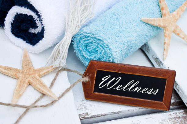 Wellness-Label und maritime Dekoration – Foto