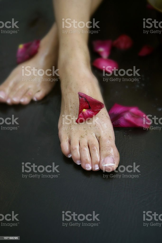 Wellness: pedicure royalty-free stock photo