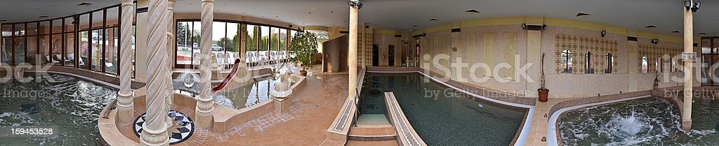 Wellness pools in hotel royalty-free stock photo