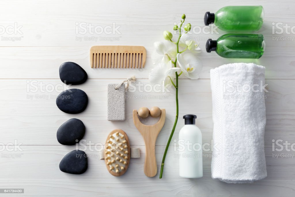 Wellness: Spa Products Still Life - foto stock