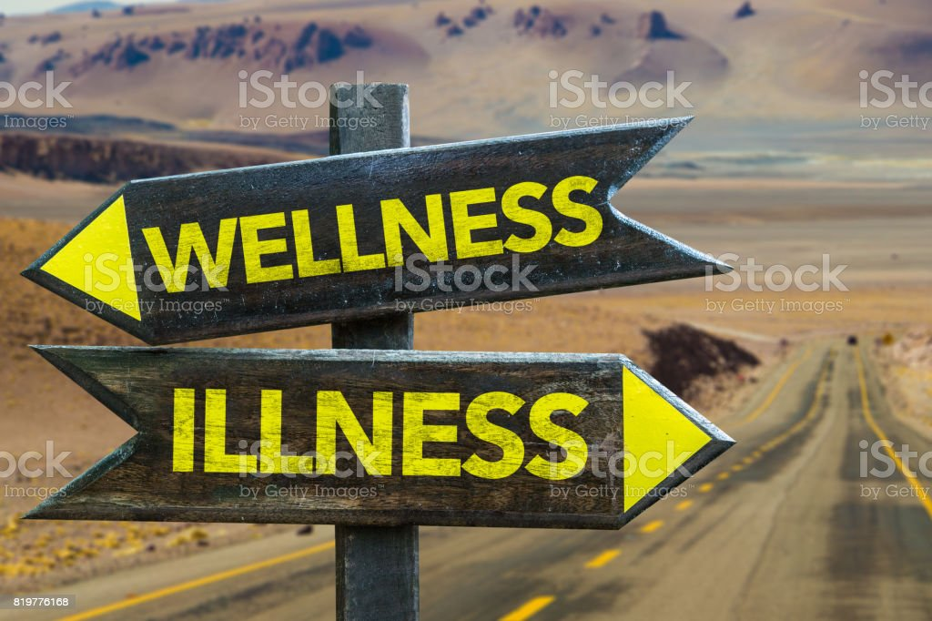 Wellness x Illness stock photo