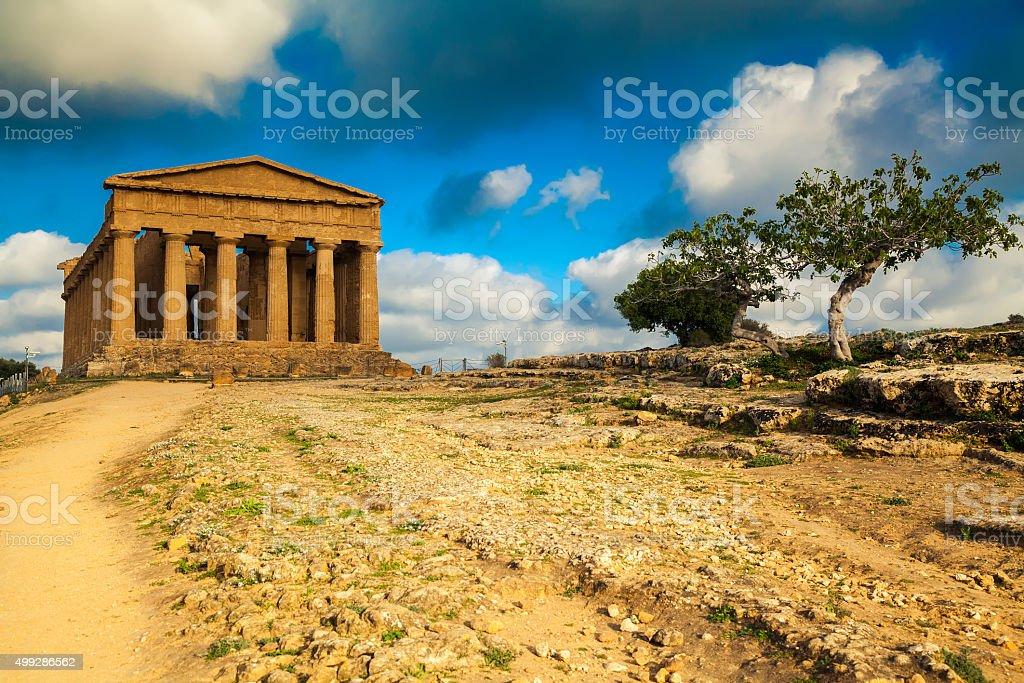 Ben conservata greco rovine del Tempio di Concordia - foto stock
