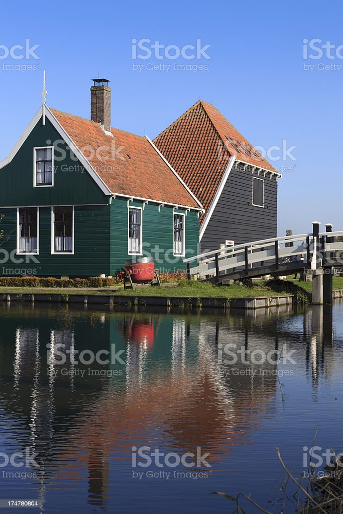 well-preserved historic house at Zaanse Schans royalty-free stock photo