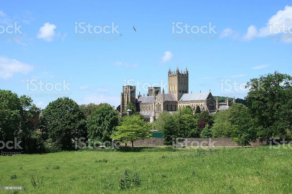 Wells Cathedral stock photo