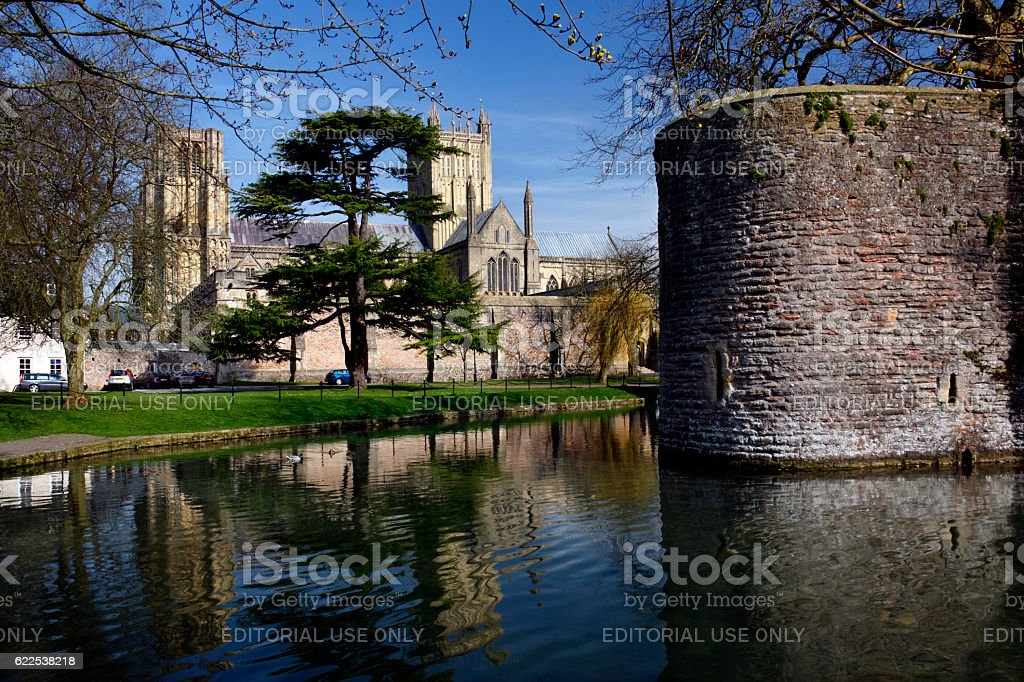 Wells Cathedral - Wells - England stock photo