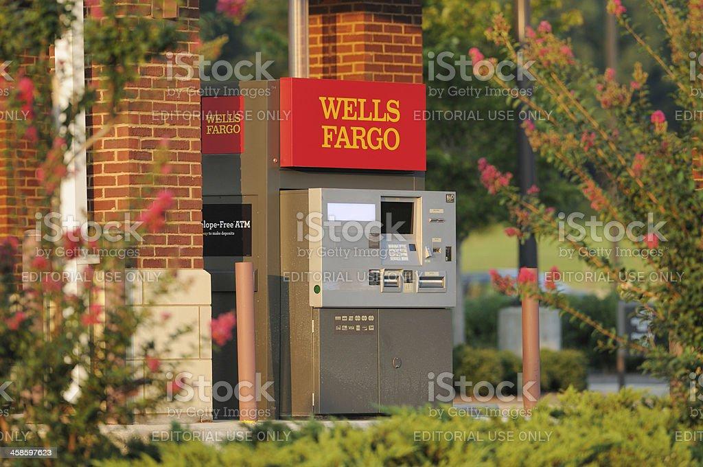 Wells Fargo ATM stock photo