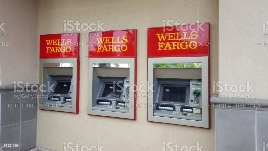 Wells Fargo Atms stock photo