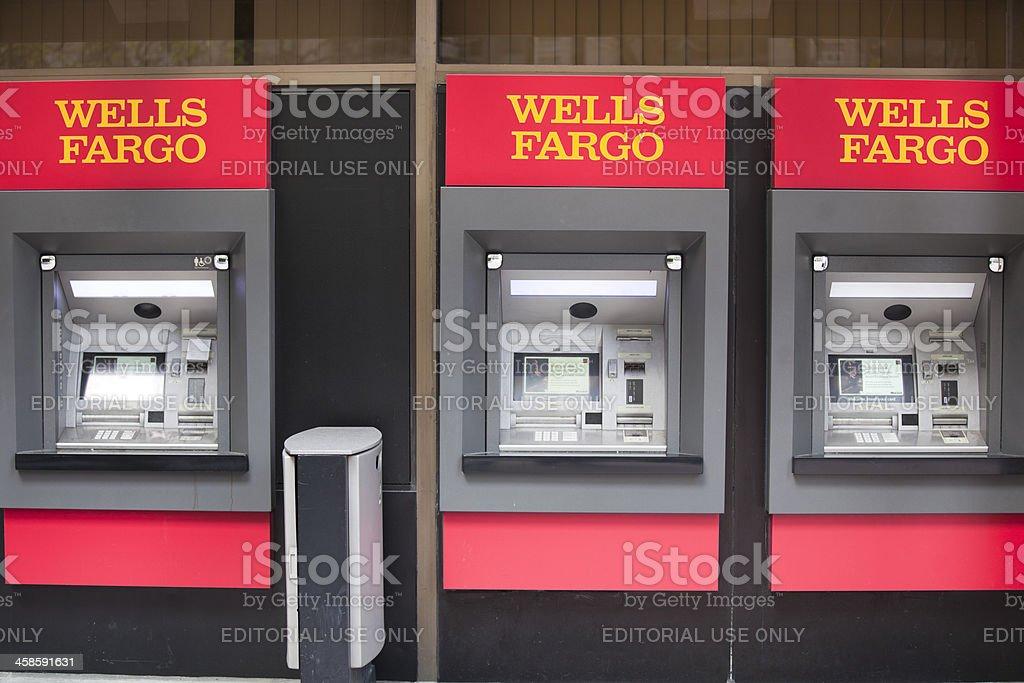 Wells Fargo Bank ATM Cash Machines, San Francisco Financial District stock photo