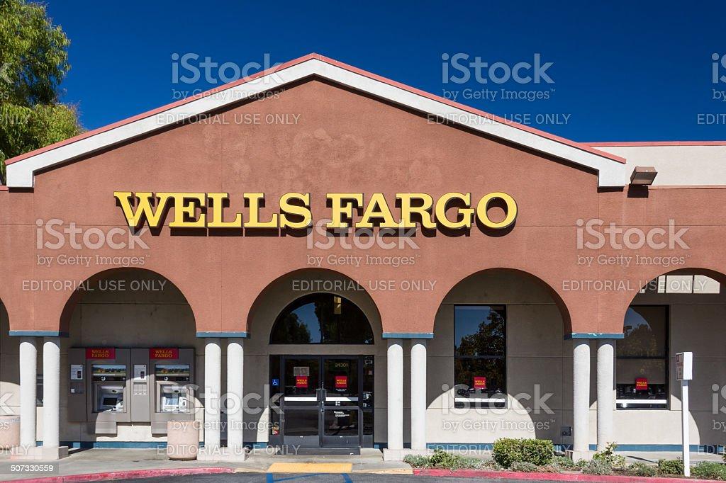 Wells Fargo Bank Exterior stock photo