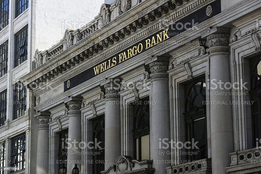 Wells Fargo Bank stock photo