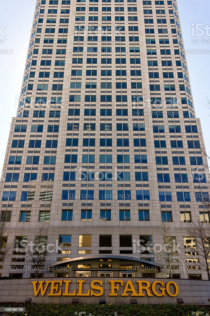 Wells Fargo Center in Winston-Salem stock photo