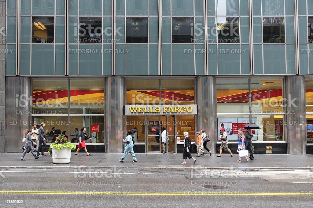 Wells Fargo New York stock photo