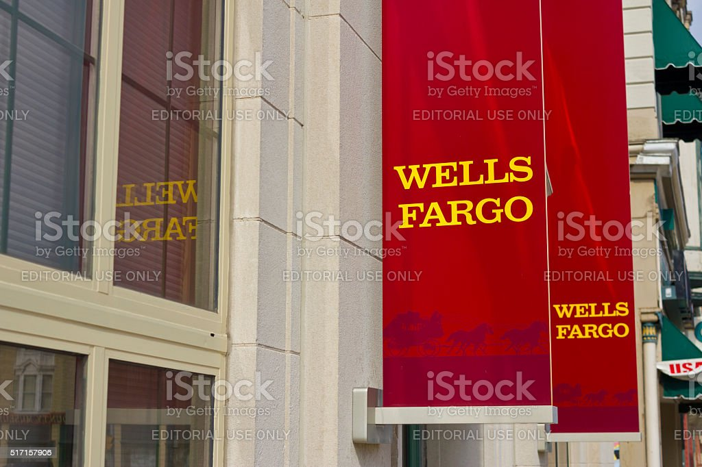 Peru, IN - March 2016: Wells Fargo Retail Bank II