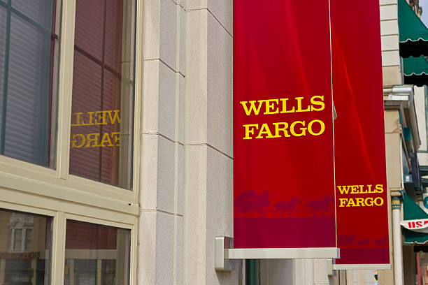 Peru, IN - March 2016: Wells Fargo Retail Bank II stock photo