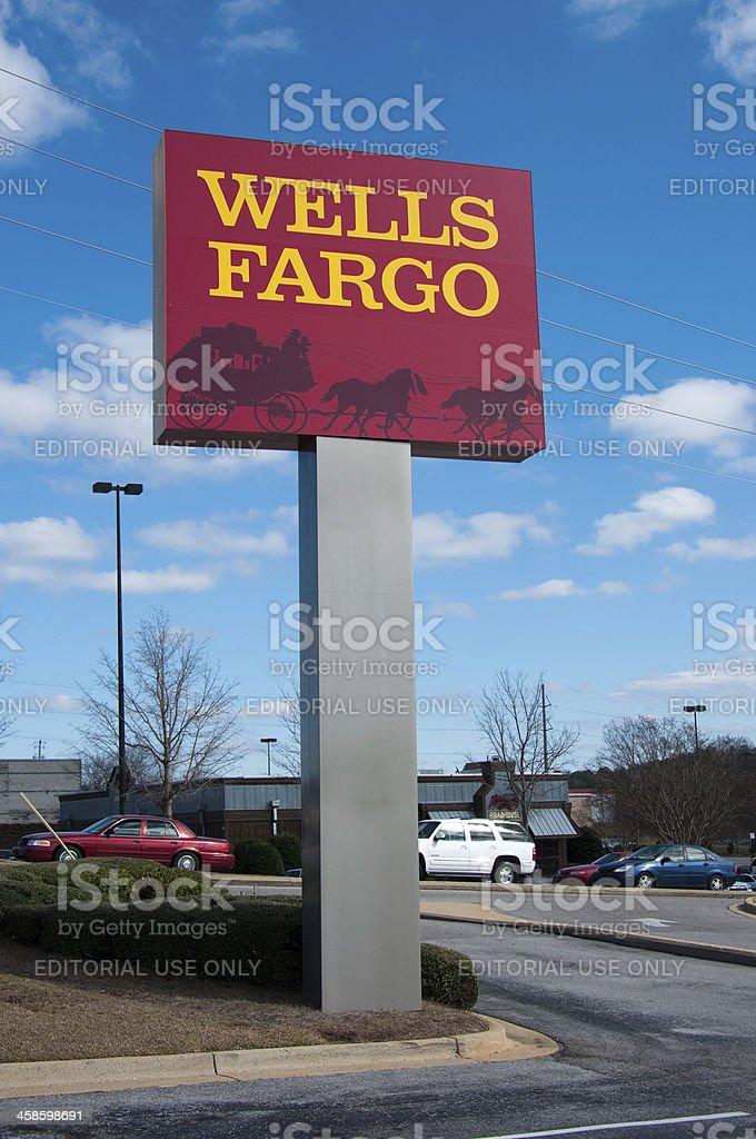 Wells Fargo Sign stock photo