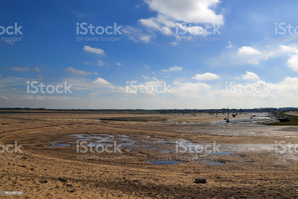 Wells next the Sea - view inland stock photo