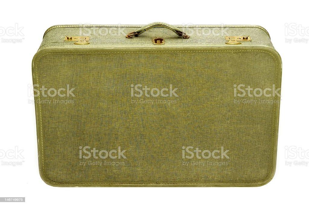 Well-Traveled Retro Suitcase stock photo