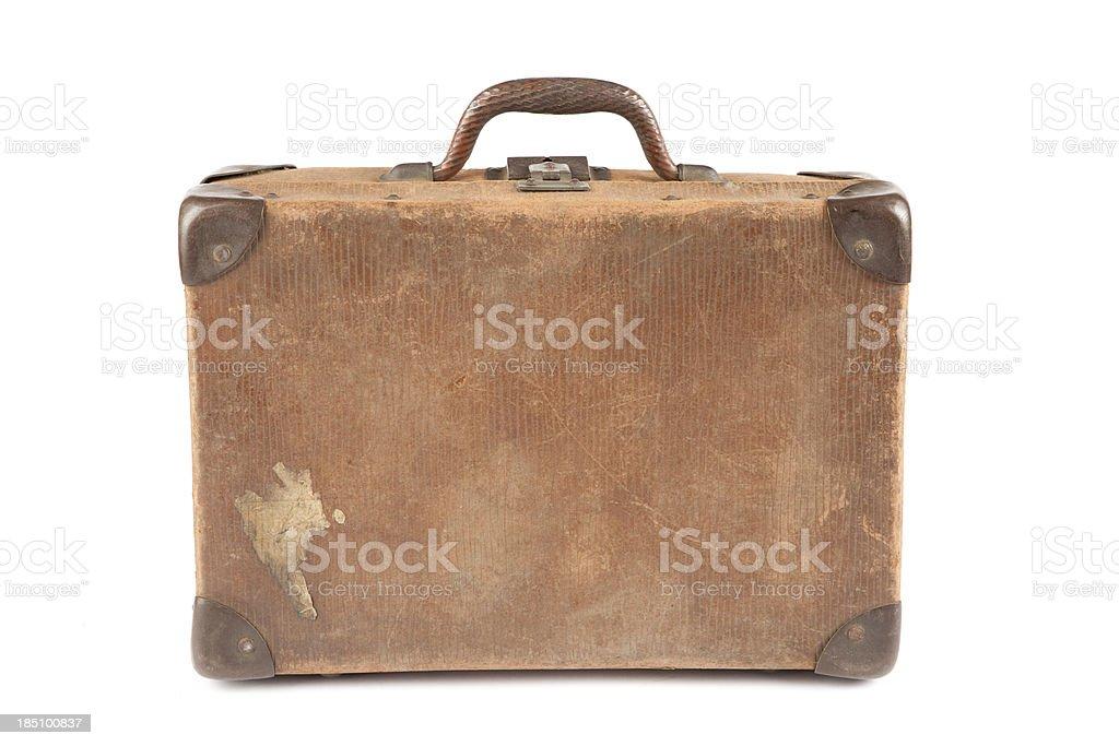 Well-Traveled Vintage Suitcase royalty-free stock photo