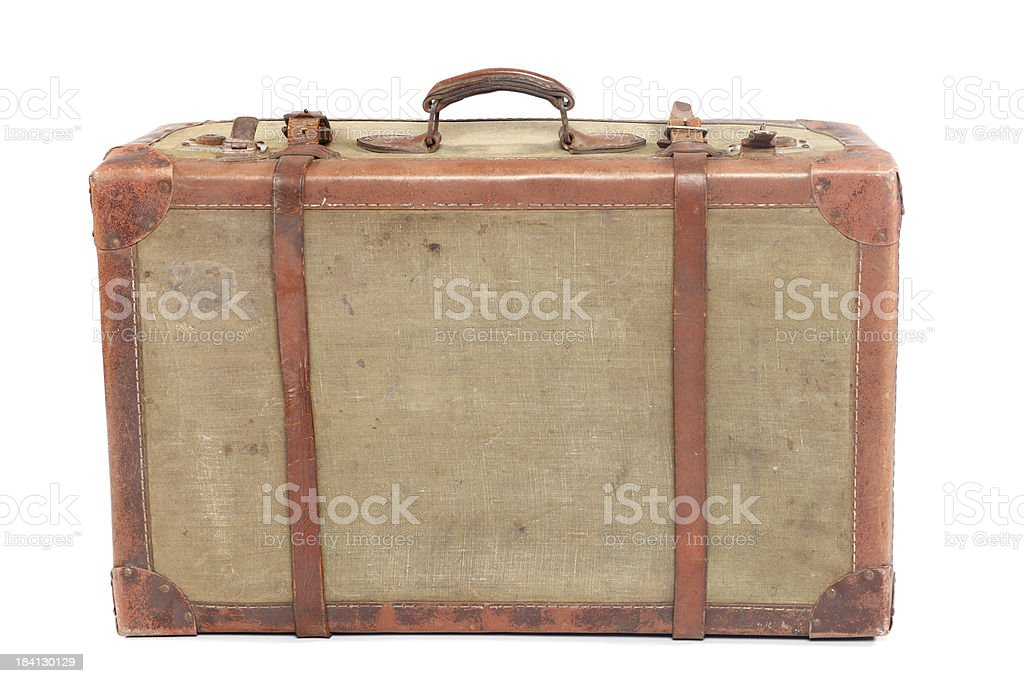 Well-Traveled Vintage Suitcase XXXL royalty-free stock photo