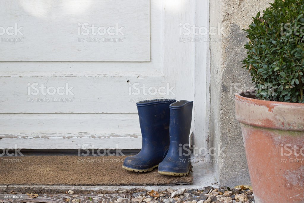 welly boots stock photo