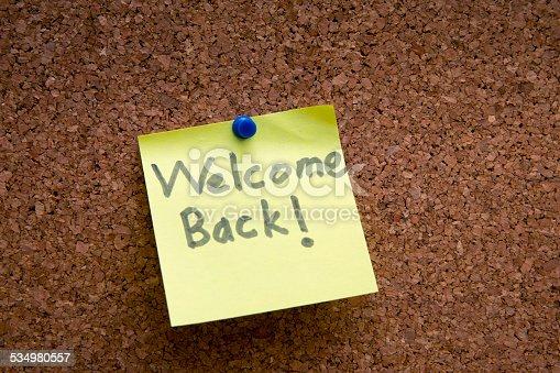 istock welome back post it 534980557