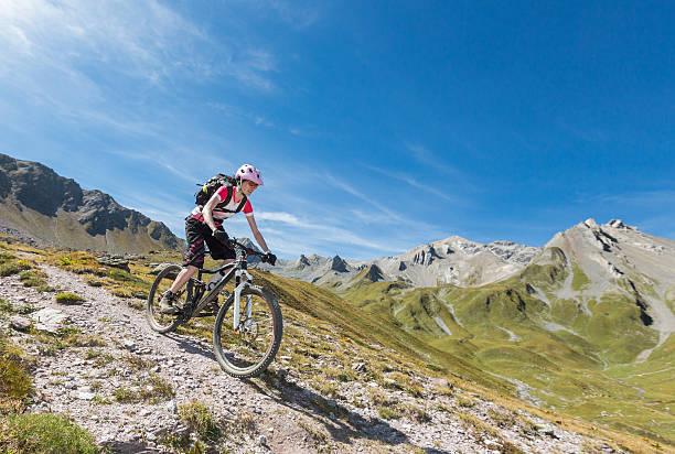 Welschtobel schnell downhill-biking, Schweiz – Foto