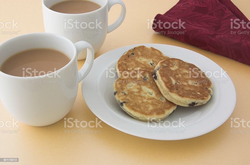 Welsh cakes and tea royalty-free stock photo