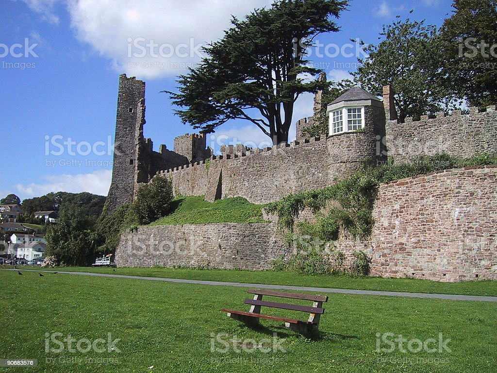 Welsh castle ruin royalty-free stock photo