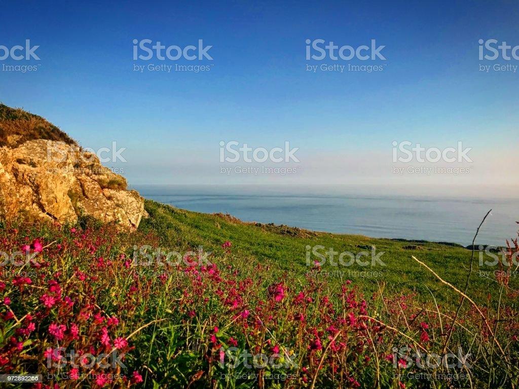 Welsh Coastal View stock photo