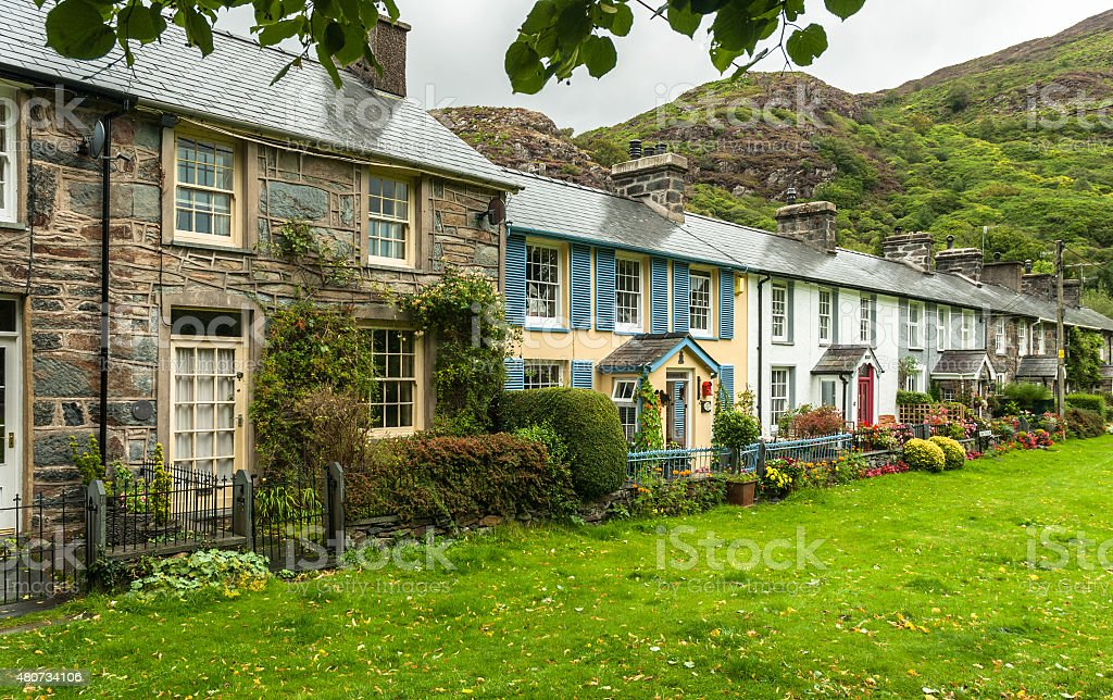 Welsh Cottages stock photo